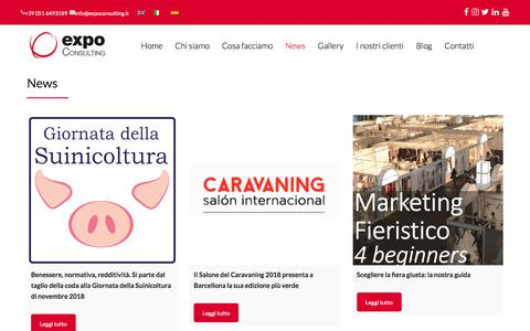 Screenshot of Press Page expoconsulting.eu - News - Expoconsulting - captured July 22, 2018