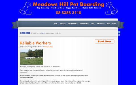 Screenshot of Blog meadowshillpetboarding.com.au - Blog - captured Oct. 27, 2014