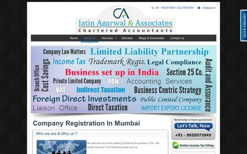 Screenshot of About Page jaas.in - Company Registration In Mumbai - Company Formation In Mumbai - captured Oct. 6, 2014