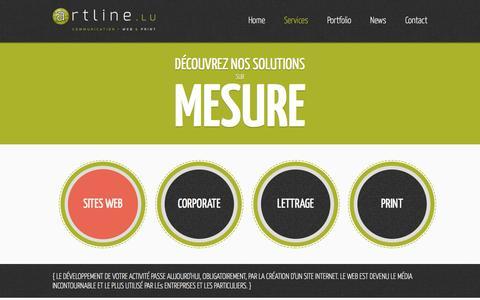Screenshot of Services Page artline.lu - Artline - Services / Sites Web - captured Sept. 30, 2014