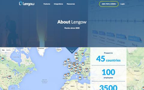 Screenshot of About Page lengow.com - About Lengow - captured Dec. 4, 2015