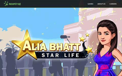 Screenshot of Home Page moonfroglabs.com - Moonfrog – India's Fastest Growing Mobile Games Company - captured Oct. 20, 2018