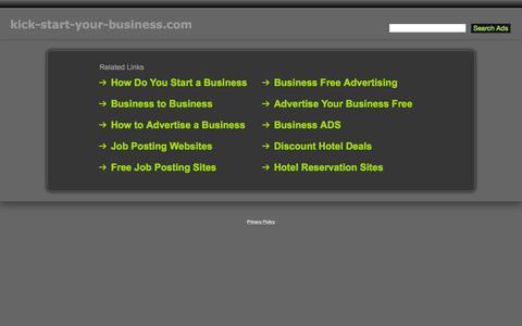 Screenshot of Home Page kick-start-your-business.com - Kick-Start-Your-Business.com - captured Aug. 29, 2015