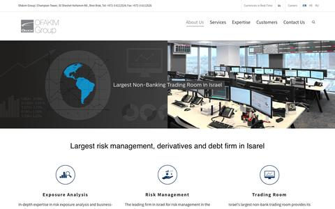 Screenshot of About Page ofakim-group.com - Ofakim Group - Largest risk management, derivatives and debt firm in Isarel - captured Feb. 21, 2016