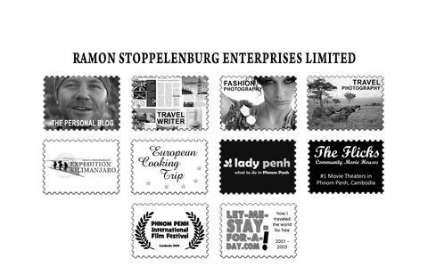 Screenshot of Home Page ramonstoppelenburg.com - Ramon Stoppelenburg Enterprises Ltd. - captured Oct. 11, 2015