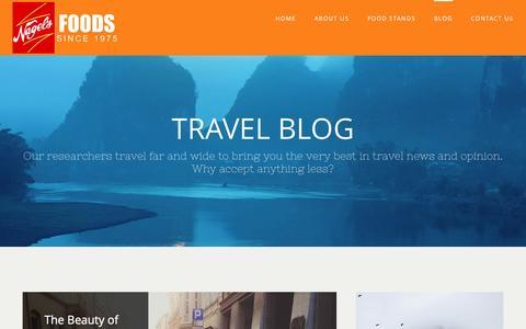 Screenshot of Blog nagelsfoods.com - Travel Blog – My Blog - captured Dec. 6, 2016