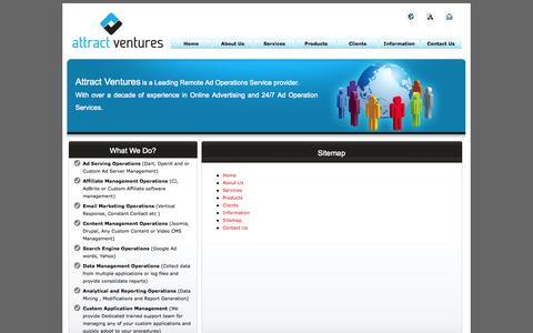 Screenshot of Site Map Page attractventures.com - :: Attract Ventures :: - captured Oct. 4, 2014