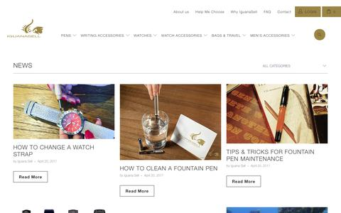 Screenshot of Press Page iguanasell.com - News - Iguana Sell - captured June 7, 2017