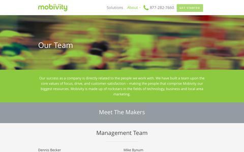 Screenshot of Team Page mobivity.com - Our Team - Mobivity - captured Nov. 2, 2014