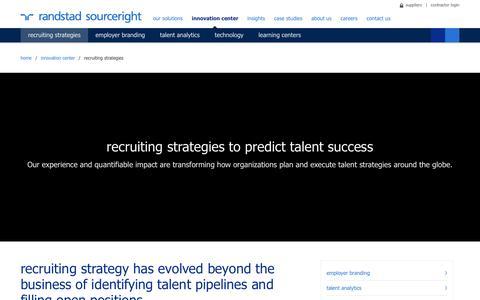 Recruitment & Talent Acquisition Strategies | Randstad Sourceright