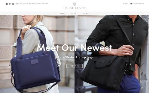 Screenshot of Home Page dagnedover.com - The Perfect Handbag for Any Occasion | Designer Handbags | Dagne Dover - captured Nov. 4, 2018