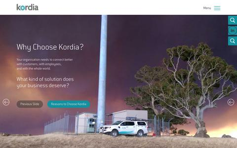 Screenshot of Home Page kordia.com.au - Homepage | Kordia - captured March 2, 2016