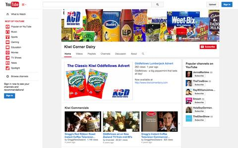 Screenshot of YouTube Page youtube.com - Kiwi Corner Dairy  - YouTube - captured Oct. 22, 2014