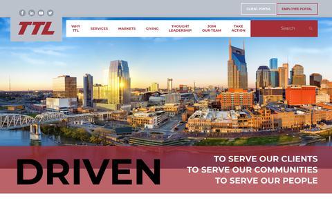 Screenshot of Home Page ttlusa.com - Home - TTL USA - captured Dec. 11, 2018
