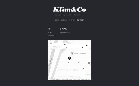 Screenshot of Contact Page klim.co.il - Klim&Co . Contact - captured Oct. 15, 2018