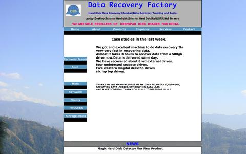 Screenshot of Case Studies Page datarecoveryfactory.com - Data Recovery FactoryHard disk data recovery In Mumbai|Data Recovery Training-Tools| - captured Feb. 4, 2016