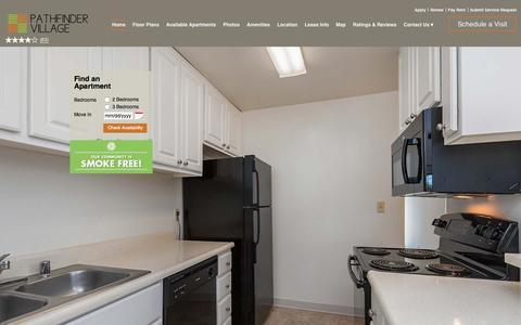 Screenshot of Home Page pathfindervillageapts.com - Pathfinder Village Apartments | Fremont, CA | Home - captured Jan. 26, 2016