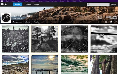 Screenshot of Flickr Page flickr.com - Flickr: : henrY Leiter Foto's Photostream - captured Nov. 5, 2014