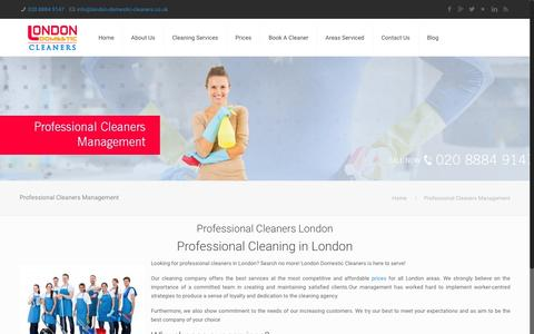 Screenshot of Team Page london-domestic-cleaners.co.uk - Professional Cleaners London |Professional Cleaning |Domestic Cleaners - captured July 17, 2016