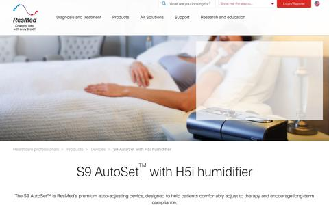 S9 AutoSet with H5i humidifier | ResMed