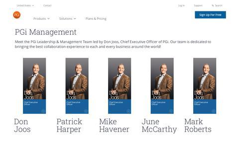 Screenshot of Team Page pgi.com - PGi Leadership & Management Team | PGi - captured Dec. 24, 2019