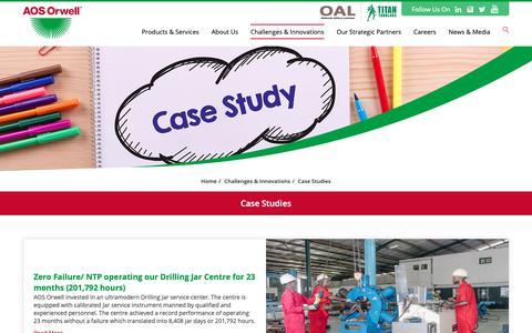 Screenshot of Case Studies Page aosorwell.com - Oilfield Fishing Tools, Drilling Service Company In Nigeria, Port  | AOS Orwell - captured Dec. 9, 2018