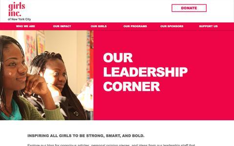 Screenshot of Blog girlsincnyc.org - girlsincnyc   Leadership Corner - captured Aug. 5, 2017