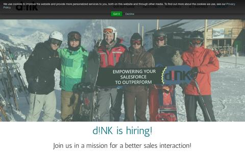 Screenshot of Jobs Page dink.eu - Working at d!NK - jobs at dink - captured Nov. 23, 2016