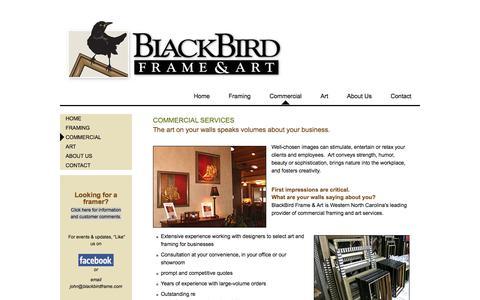 Screenshot of Services Page blackbirdframe.com - Commercial Services         —         Blackbird Frame - captured Oct. 5, 2014