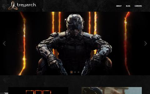 Screenshot of Home Page treyarch.com - Treyarch > Official Site - captured Feb. 25, 2016