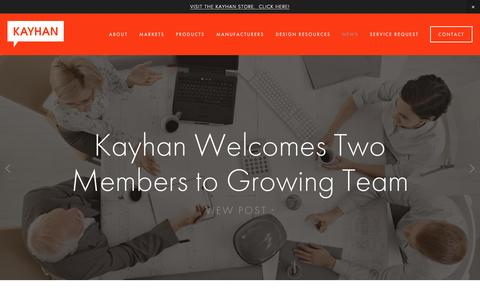 Screenshot of Press Page kayhan.com - NEWS Ń Kayhan International - Chicago's Best In Class, Preferred Haworth Dealer - captured Jan. 9, 2016