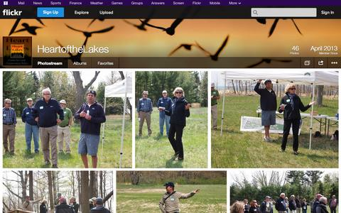 Screenshot of Flickr Page flickr.com - Flickr: HeartoftheLakes' Photostream - captured Oct. 22, 2014