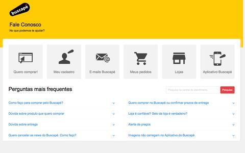 Screenshot of FAQ Page zendesk.com - Buscapé - Fale Conosco - captured Nov. 24, 2015