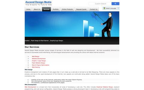 Screenshot of Services Page ascenddesignmedia.com - Welcome to Ascend Design Media :: Our Services - captured May 30, 2017