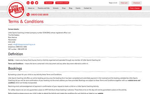 Screenshot of Terms Page littlesportscoaching.co.uk - Terms & Conditions | Little Sports Coaching - captured Jan. 31, 2016