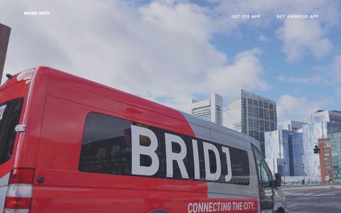 Screenshot of Home Page bridj.com - Bridj - captured Sept. 20, 2015