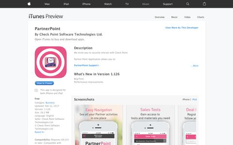 PartnerPoint on the App Store