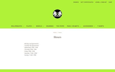 Screenshot of Hours Page 808rollerskate.com - Hours - captured Dec. 2, 2016