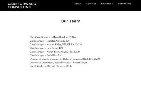 Screenshot of Team Page careforward.com - Our Team - captured Dec. 7, 2015