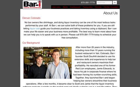 Screenshot of About Page bar-i.com - Bar inventory auditing by Bar-i intelligent inventory | Bar - i - captured Feb. 7, 2016
