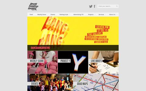 Screenshot of Home Page youngcreativecouncil.com - Young Creative Council - captured June 21, 2015