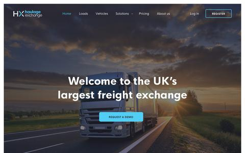 Screenshot of Home Page haulageexchange.co.uk - Haulage Exchange - Europe's Biggest Haulage Network - captured Sept. 28, 2019