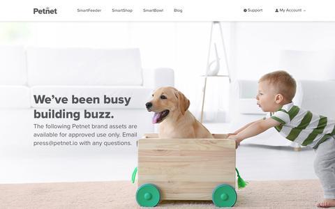 Screenshot of Press Page petnet.io - Petnet Press                      – petnet.io - captured April 25, 2019