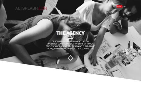 Screenshot of About Page altsplash.com - The Agency - Award winning Web Design Agency in London, Bricklane E1 - captured Feb. 5, 2016