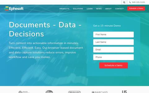 Intelligent Document Capture   Document Analytics   Ephesoft