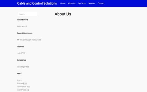 Screenshot of About Page cacsllc.com - About Us – Cable and Control Solutions - captured Jan. 24, 2016
