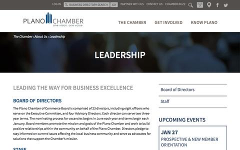 Screenshot of Team Page planochamber.org - Plano Chamber of Commerce Leadership | Plano, Texas - captured Jan. 27, 2016