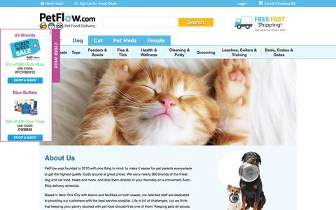 Screenshot of About Page petflow.com - About Us | PetFlow - captured Dec. 2, 2015