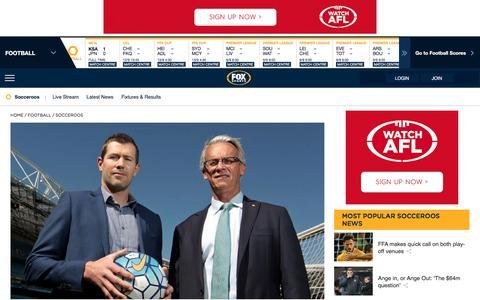 Socceroos | Football, Live Soccer, Socceroos Results | FOX SPORTS
