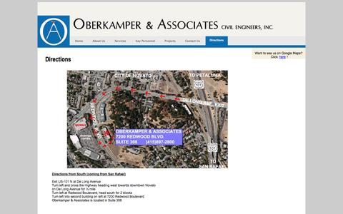 Screenshot of Maps & Directions Page oberkamper.com - Oberkamper & Associates, Inc. | Directions - captured Nov. 4, 2014